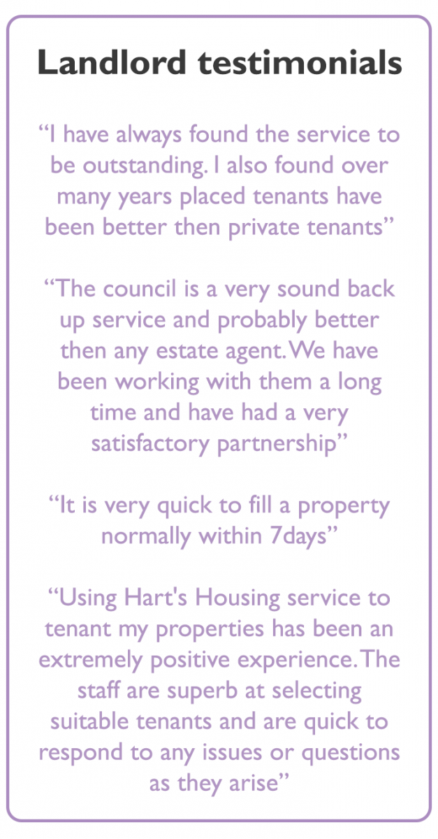 Renting Out Your Home Hart District Council