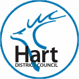 Blue Hart District Council - Logo in a blue circle.