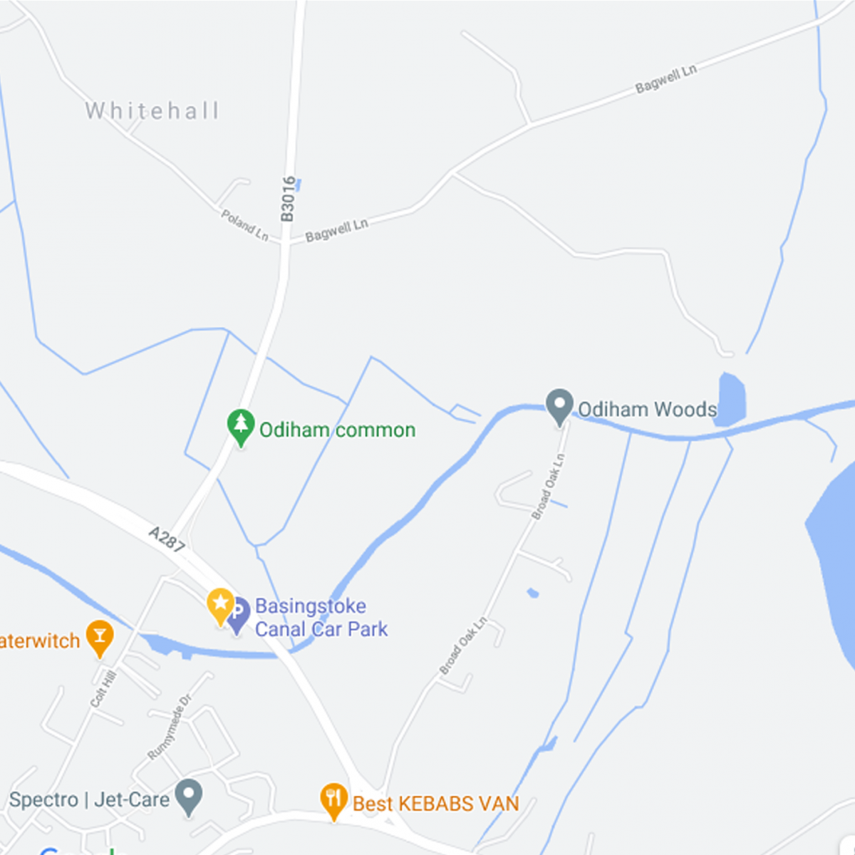 Google map image of Odiham Common