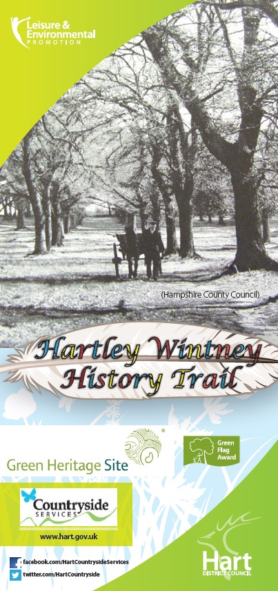 Front cover of Hartley Wintney History Trail containing trail map