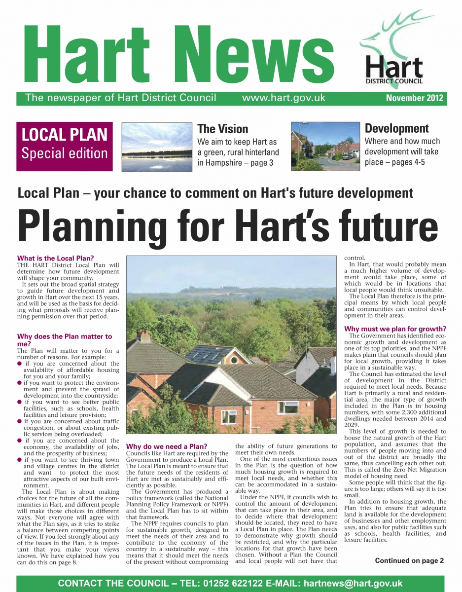 Hart News Winter 2012 Special Edition