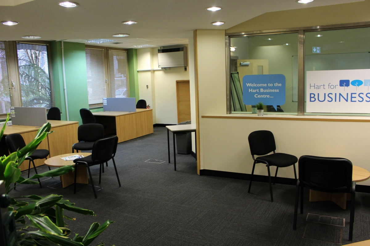 Desk space at the Hart Business Centre