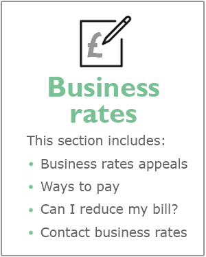 Business rates webpage