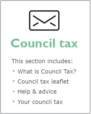 Council tax webpages