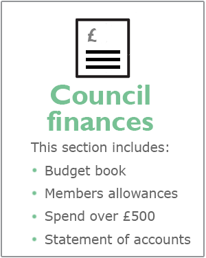 Council finances webpages