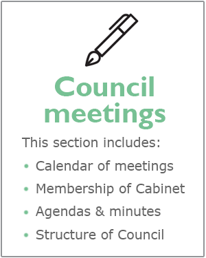 Council meetings webpages