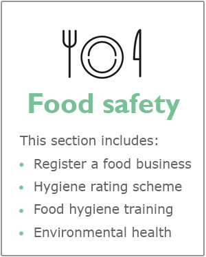 Food safety webpage