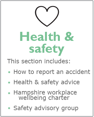Health and safety webpages