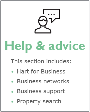 Business Help and advice webpage