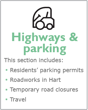 Highways and parking webpages
