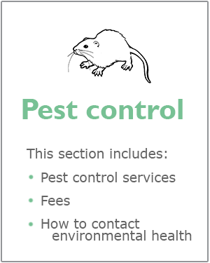 Pest control webpage