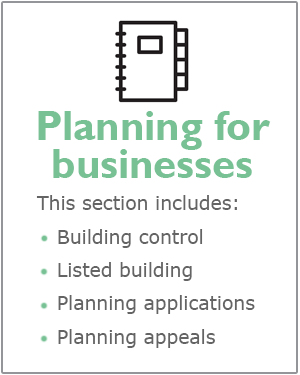 Planning for businesses webpage