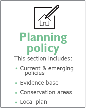 Planning policy webpages
