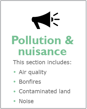 Pollution and nuisance webpage