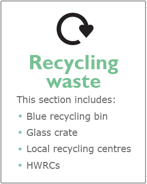 Recycling waste webpage